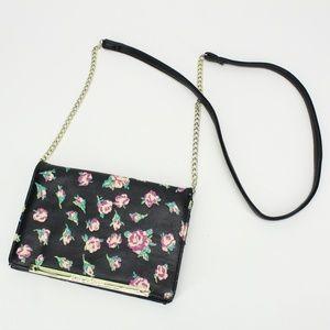 Betsy Johnson Floral Wallet Crossbody Purse